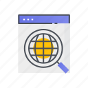 magnifying, research, search, test, zoom icon