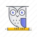 communication, interaction, owl, smart, technology icon