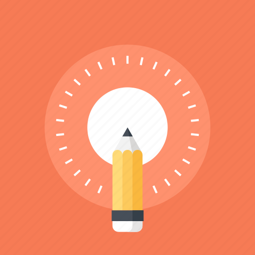 art, bulb, creative, design, development, draw, education, idea, illustration, imagination, inspiration, knowledge, light, pen, pencil, power, process, solution, tool icon