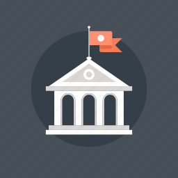 academy, ancient, architecture, bank, building, college, education, government, greek, high, knowledge, learn, old, school, study, university icon