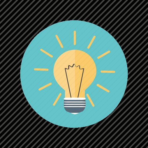 bulb, idea, innovation, thinking icon