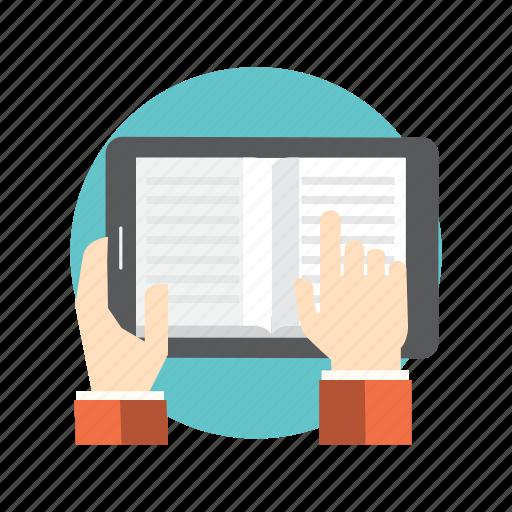 books, communication, internet, online icon