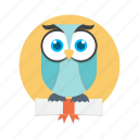 animal, bird, nature, owl, smart icon