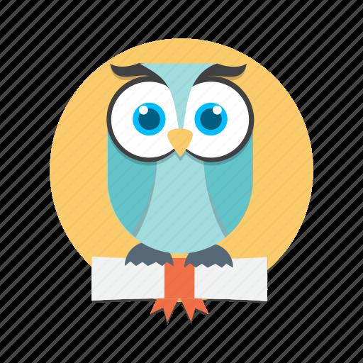 animal, bird, nature, owl, smart icon