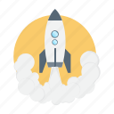 launch, power, rocket, spaceship, startup icon