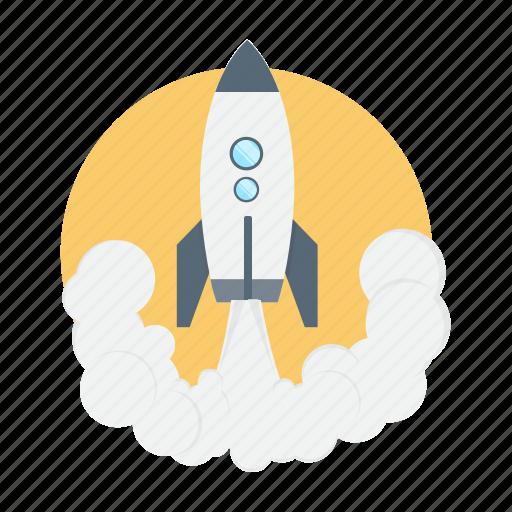 launch, power, rocket, spaceship, startup icon