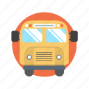 bus, school, study, transport, transportation icon