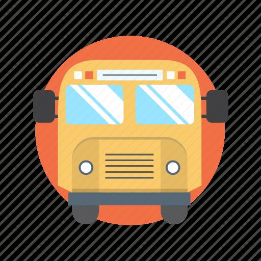 bus, school, study, transport, transportation icon