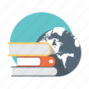 books, country, nation, world icon