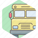 bus, school, transport, transportation, van, vehicle icon