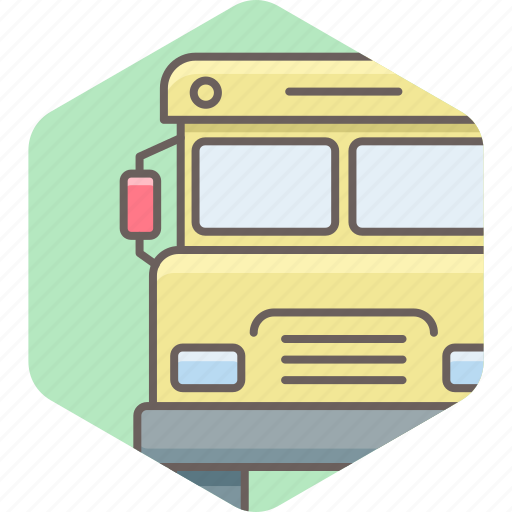 bus, school, transport, transportation, van, vehicle icon