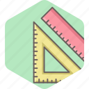 design, ruler, stationary, stationery, tools icon