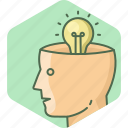 brain, creative, head, idea, mind icon