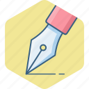 creative, design, graphic, nib, pen, write icon