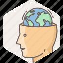 country, globe, global, mind, head, national