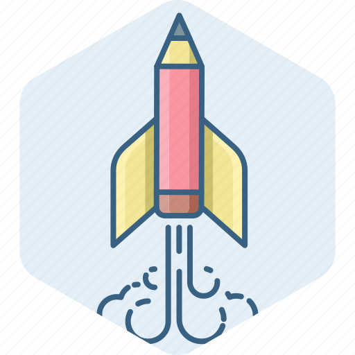 business, launch, missile, project, rocket, startup icon