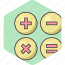 characters, math, maths, special, calculation, mathematics icon
