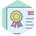 award, badge, card, certificate, id icon