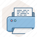 document, page, print, printer, printing icon
