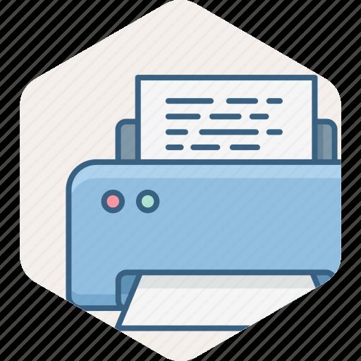 document, page, print, printer, printing icon