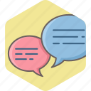 bubble, chat, chatting, comment, dialogue, feedback, sms icon