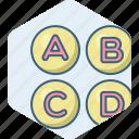 abc, alphabet, alphabets, letter, letters icon