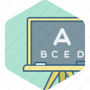 class, classroom, english, education, knowledge, letter, uppercase icon