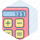 accounting, calc, calculate, calculation, calculator, math, mathematics icon