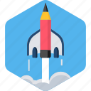 launch, missille, rocket, space, spaceship, startup, syllabus icon