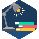 education, highlight, lamp, learning, light, lights, study icon