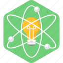 atom, bulb, electric, energy, innovation, invention, science icon