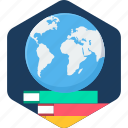 book, education, global, globe, knowledge, learning, study icon