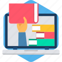 book, buy, online, purchase, read, selection, study icon