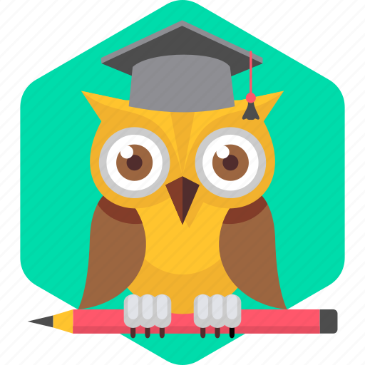 cartoon, college, owl, professor, smartclass, smartclasses, teacher icon