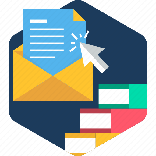 click, email, mail, message, notification, open, read icon