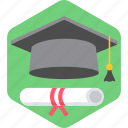 certificate, degree, diploma, education, graduate, learn, learning icon