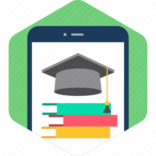 device, education, library, mobile, read, reading, university icon