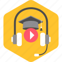 audion, class, classes, listening, multimedia, music, song icon