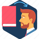 book, concept, education, exams, knowledge, learn, learning icon