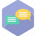 chat, comments, communication, conversation, gossip, message, talk icon