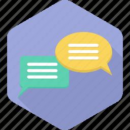 chat, comments, communication, conversation, gossip, message, talk icon