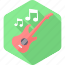 guitaar, guitar, instrument, music, musical, song, sound icon