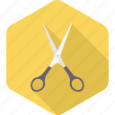 art, craft, salon, school supplies, scissor, scissors, trim icon