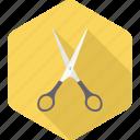 scissor, scissors, trim, salon, craft, art, school supplies icon