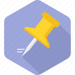 attach, direction, navigation, pin, point, pointer icon