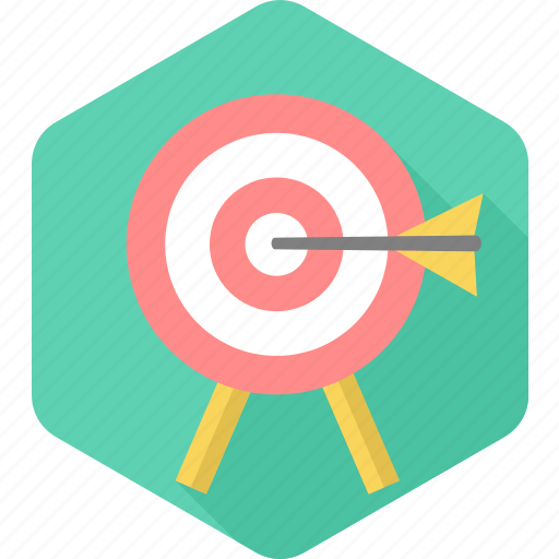 achievement, aim, business, dartboard, goal, shooting, target icon