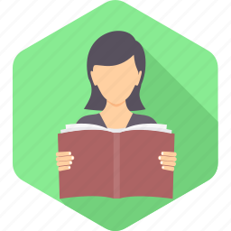 avatar, education, knowledge, learning, reading, student, study icon