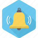 alert, attention, bell, christmas, church, notification, volumn icon