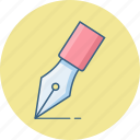 draw, edit, nib, pen, pencil, write, writing icon