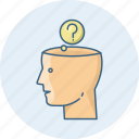 aptitude, brain, faq, help, question, questions, test icon